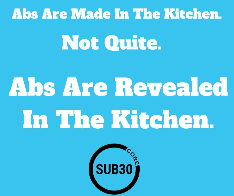 Blog Post - Abs are revealed in the Kitchen.