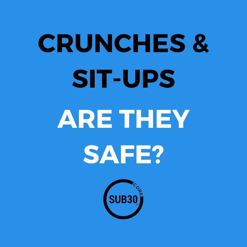 Are crunches and sit-ups good or bad for us?