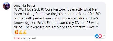Core Restore Workout Testimonial_Amanda Senior