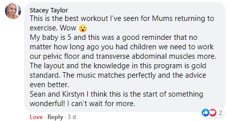 Core Restore Workout Testimonial_Stacey Taylor