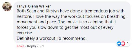 Core Restore Workout Testimonial_Tanya-Glenn Walker