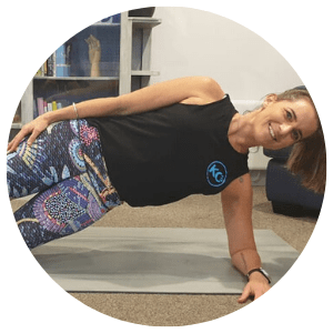 KC Fit core exercise demonstration image